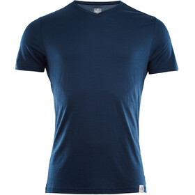 Aclima LightWool V-Neck T-Shirt Men Insignia Blue